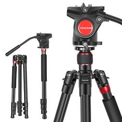 Neewer 2-in-1 Aluminum Alloy DSLR Camera Tripod 180cm with F