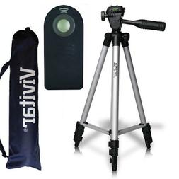 "50"" PRO VIVITAR TRIPOD + REMOTE FOR CANON EOS REBEL NIKON DS"