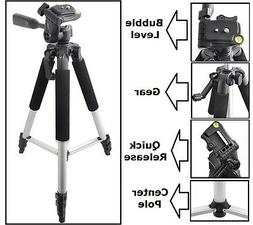 """Pro Series 57"""" Tripod With Case For Sony DSLR-A850 SLT-A33L"""