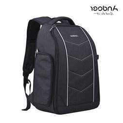 Andoer Pro 600D Fabric Material Camera Backpack Bag for DSLR