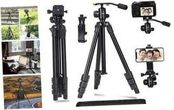 Abithid Camera Tripod DSLR Stand, Phone Holder Tripod, Compa