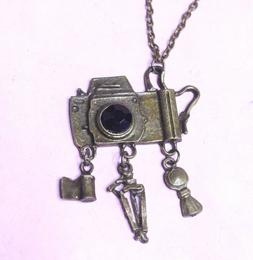 Camera DSLR Necklace with Film, and Tripod Charms Hot Topic