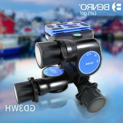 BENRO GD3WH 3D Magnesium Alloy Tripod Geared Head With PU70