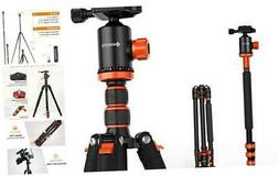 GEEKOTO AT24EVO Aluminum Tripod, 77in Camera Tripod for DSLR