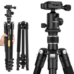 K&F Concept 62'' Portable Aluminum Camera Tripod with Ball H