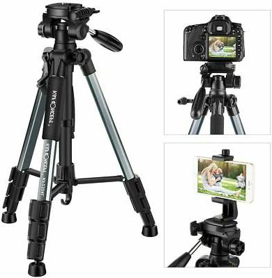 56 compact lightweight travel cameratripod with phone