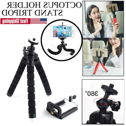mini cell phone octopus tripod stand flexible