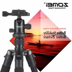 ZOMEI Q555 Portable Aluminium Travel Tripod&BallHead for Can