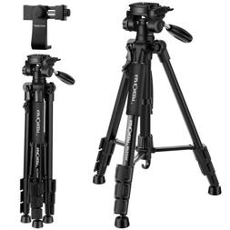Professional Camera Tripod Stand&Pan Head for Canon Nikon So