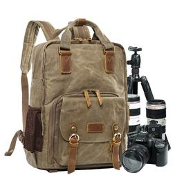 Waterproof Shock-resistant DSLR Camera Bag with Tripod Holde